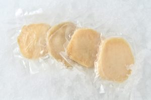 Abalone tenderized steaks in packages