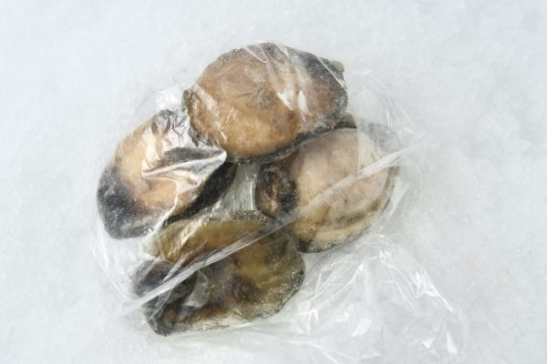 Abalone meat in package