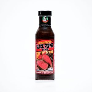 Bottle of black pepper sauce