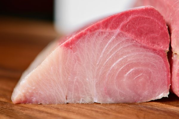 Hamachi loin partially cut
