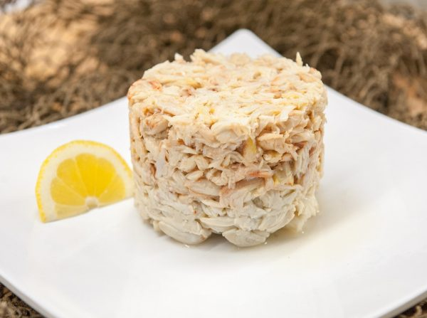 Handy crab meat stacked
