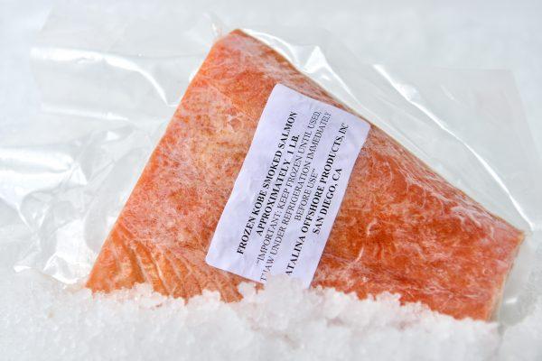 Kobe smoked salmon in package