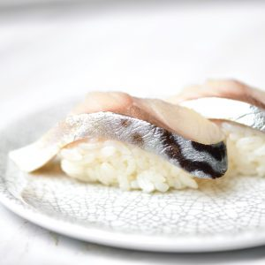 Shime saba mackerel sushi