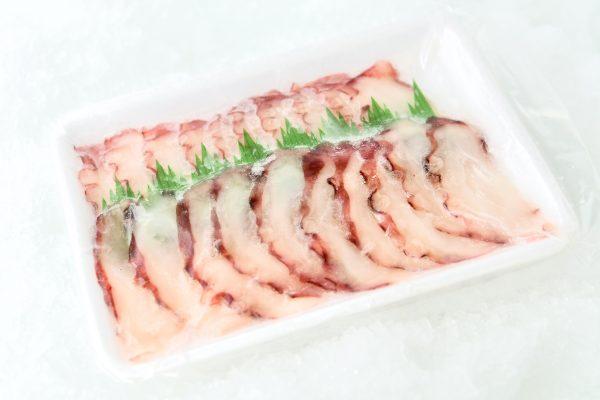 Sliced octopus in package