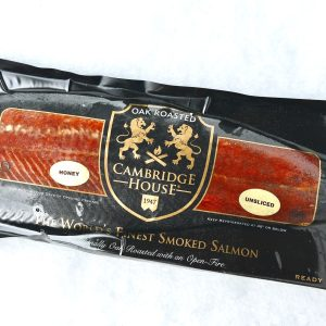 Cambridge House Honey Smoked Salmon full side in package