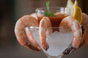 Shrimp as shrimp cocktail