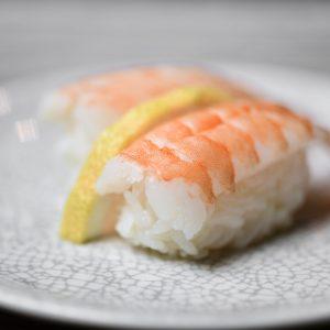 ama ebi shrimp tails nigiri sushi