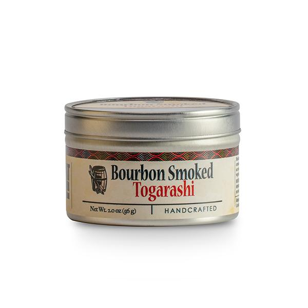 Container of bourbon smoked togarashi