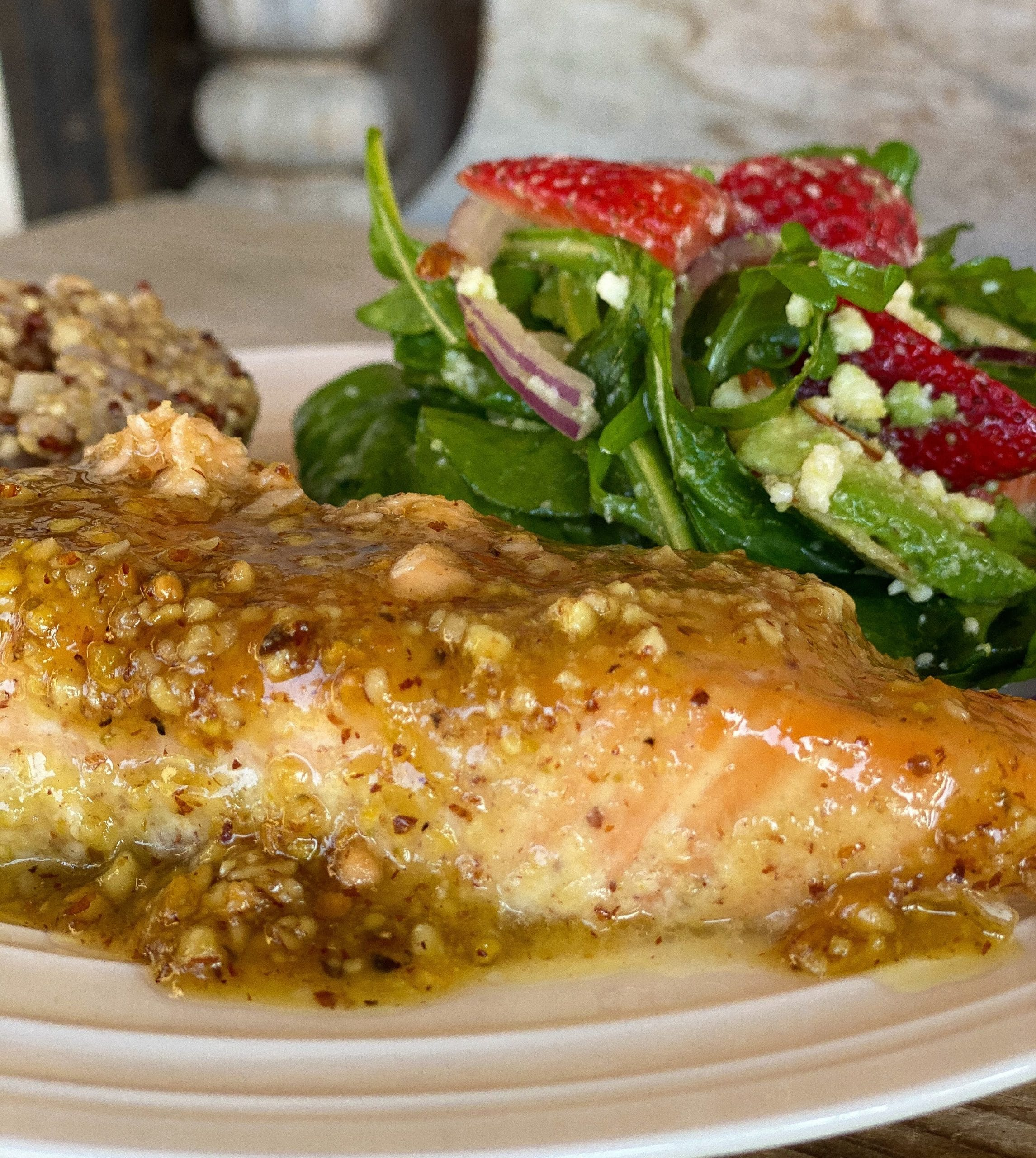 Nut Crusted Maple Butter Salmon