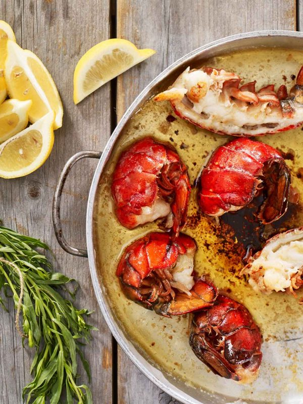 Lobster tails in butter saue